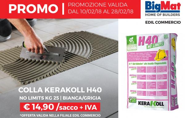 Kerakoll H40 No Limits kg 25 bianca e grigia